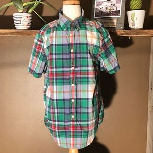 💗💗Ralph Lauren short sleeve plaid button up